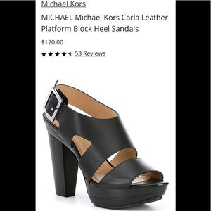Gently used Michael Kors Carla platform size 9.